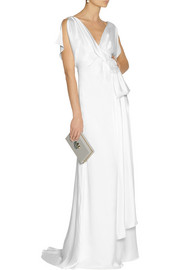 Temperley LondonRosemary wrap-effect silk-satin gown