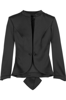 L'Wren Scott Satin bustle jacket | NET-A-PORTER.COM from net-a-porter.com