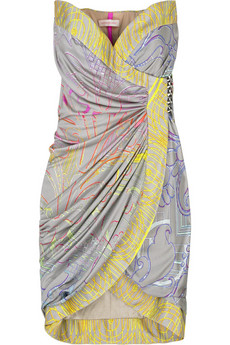 Matthew Williamson Neon baroque jersey dress