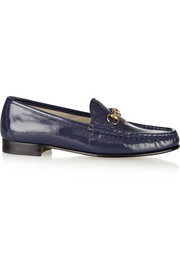 Gucci Horsebit-detailed patent-leather loafers