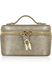 Mulberry Metallic textured-leather jewelry case