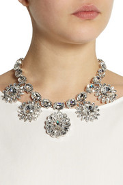 Dolce & GabbanaNatale palladium-plated Swarovski crystal necklace