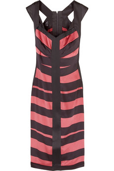 Narciso Rodriguez Striped silk pencil dress