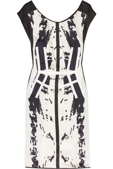 Narciso Rodriguez Graffiti-print silk dress