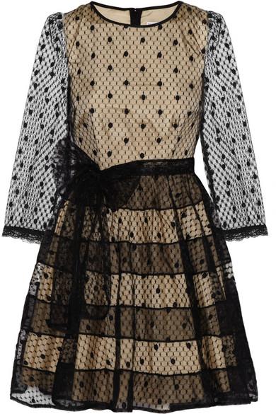 Redvalentino Polka Dot Tulle Mini Dress