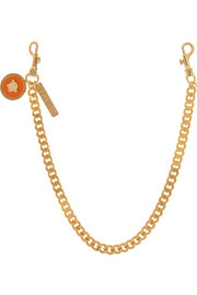 Versace Swarovski crystal-embellished gold-tone belt chain