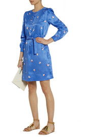 See by ChloéFloral-print satin-twill shirt dress