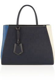 Fendi 2Jours medium tri-color textured-leather shopper