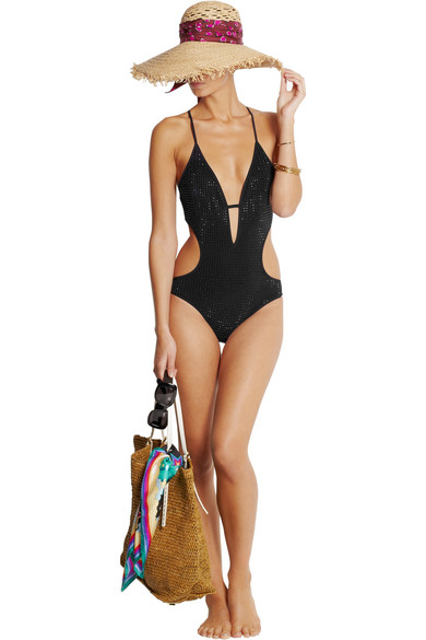 d86df75e95157 Gucci   Crystal-embellished cutout swimsuit   NET-A-PORTER.COM