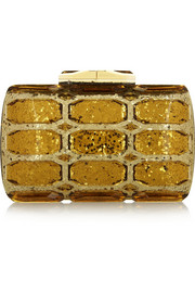 Gucci Aristographic glittered plexiglass clutch