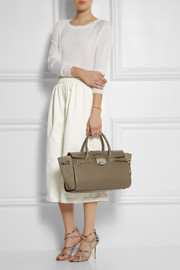 Jimmy Choo Rosa textured-leather and suede tote