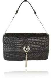 Versace Vanitas large embroidered leather shoulder bag