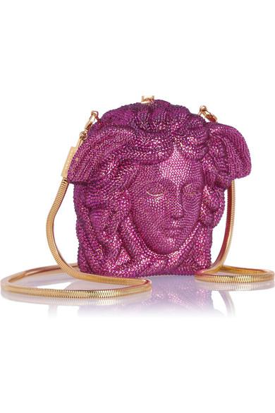 75414f681b75 Versace. Medusa crystal-embellished shoulder bag