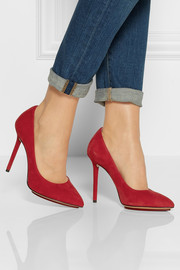 Charlotte Olympia Monroe suede pumps