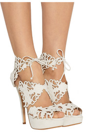 Charlotte Olympia Belinda cutout suede sandals