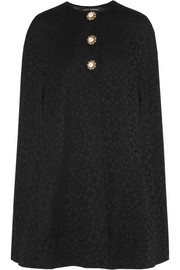 Dolce & Gabbana Embellished cotton-blend lace cape