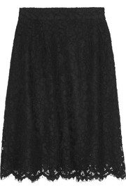 Dolce & Gabbana A-line cotton-blend lace skirt