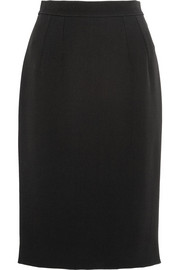 Twill pencil skirt