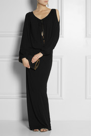 GucciJersey-crepe gown
