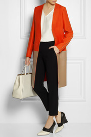 Fendi Wool-blend and leather coat