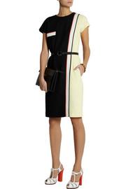 FendiColor-block crepe dress
