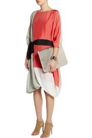 FendiOversized color-block silk dress