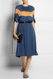 FendiColor-block fine-knit silk dress
