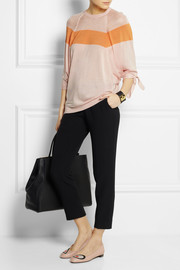 Fendi Color-block fine-knit silk sweater