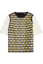 Fendi Woven leather top