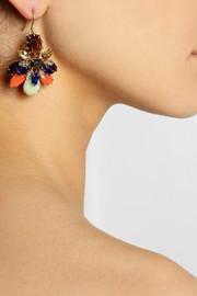 J.CrewHoneybee gold-tone crystal earrings
