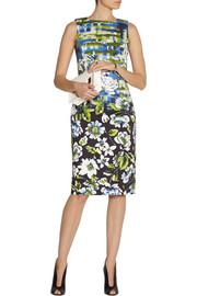 Oscar de la RentaFloral-print stretch-cotton dress