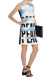 Moschino Cheap and ChicPrinted stretch-crepe dress