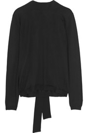 Marni Crepe-trimmed cashmere-blend sweater