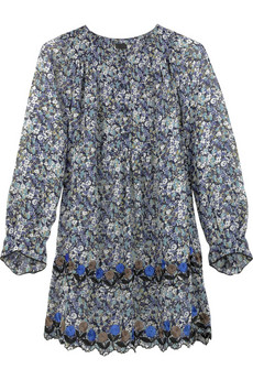 Anna Sui Pansy embroidered blouse