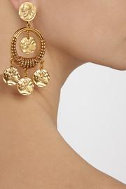 Oscar de la RentaGold-plated coin clip earrings