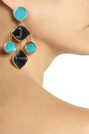 Oscar de la RentaGold-plated resin clip earrings