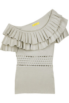 Catherine Malandrino Ruffle neck top