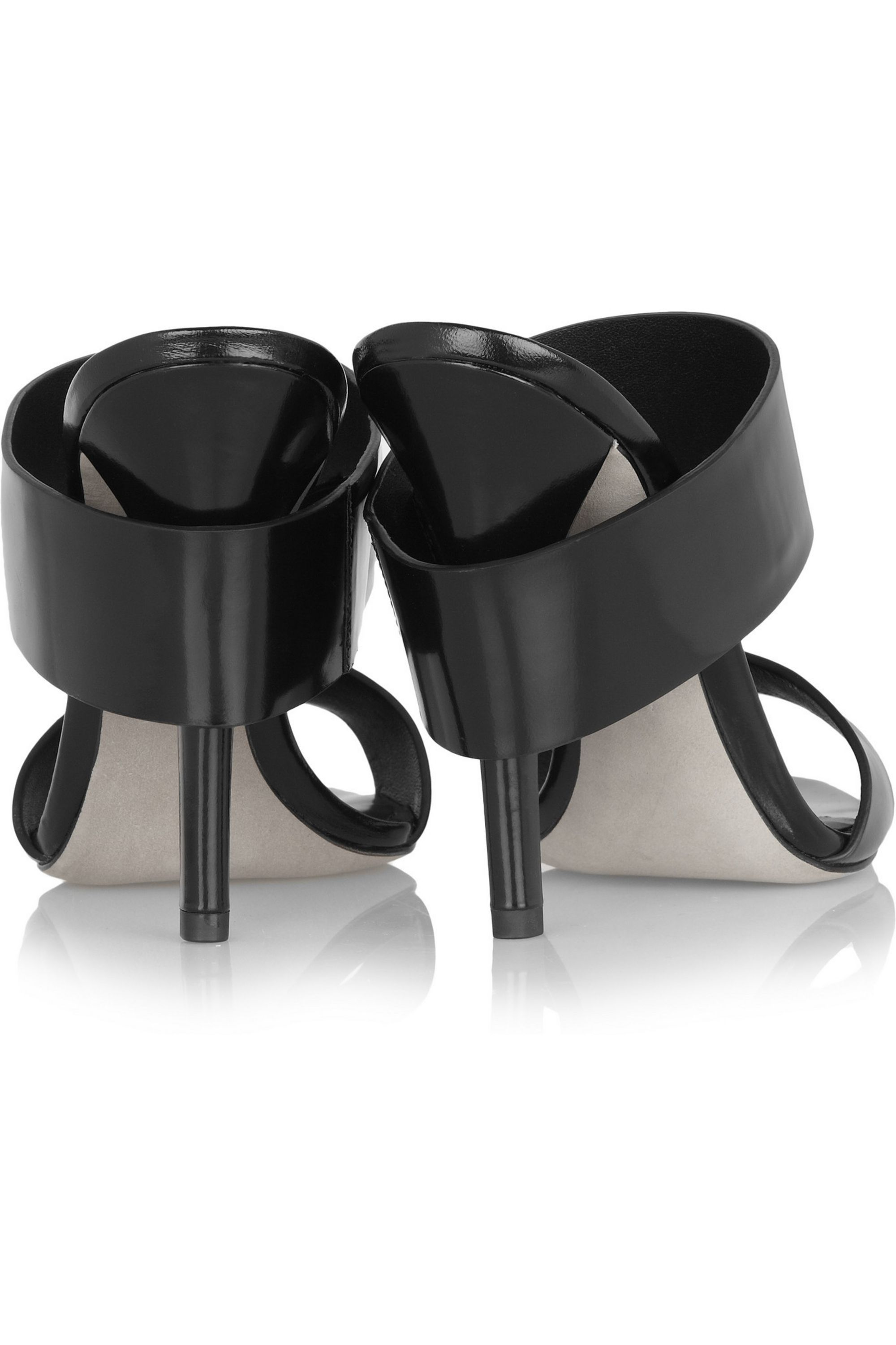 Alexander Wang Glossed-leather mules