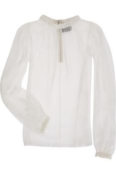 D&G Dolce & GabbanaChiffon bell sleeve blouse