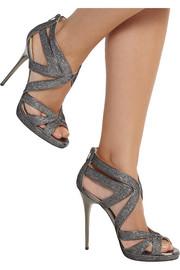 Jimmy ChooGlitter-finished leather sandals