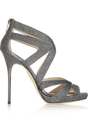 Jimmy Choo Textured-lamé sandals