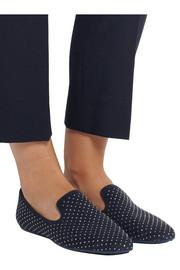 Jimmy ChooWheel studded suede slippers