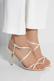 Jimmy Choo Elaine crystal-embellished satin sandals