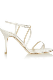 Elaine crystal-embellished satin sandals