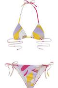 Emilio PucciMiri leaf print bikini