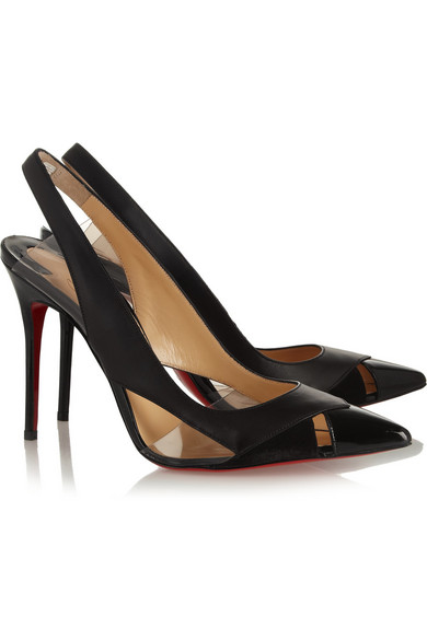 Christian Louboutin | Air Chance 100 leather and suede pumps | NET ...