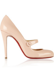 Christian Louboutin Charleen 100 patent-leather Mary Jane pumps