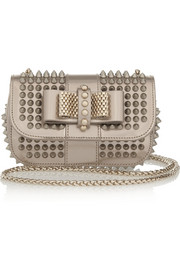Christian Louboutin Sweety Charity mini spiked metallic leather shoulder bag