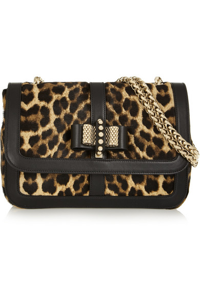 69cc982b2f4a Christian Louboutin | Sweet Charity leopard-print calf hair shoulder ...