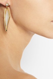 MaiyetHimalayan Headdress gold-plated horn earrings